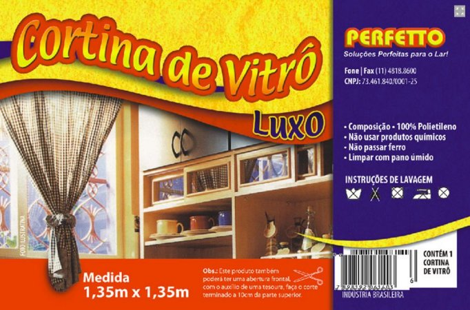 CORTINA DE VITRO LUXO PERFETTO