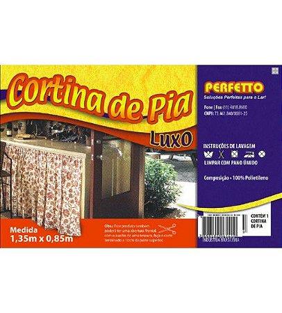 CORTINA DE PIA LUXO 1,35X85CM PERFETTO