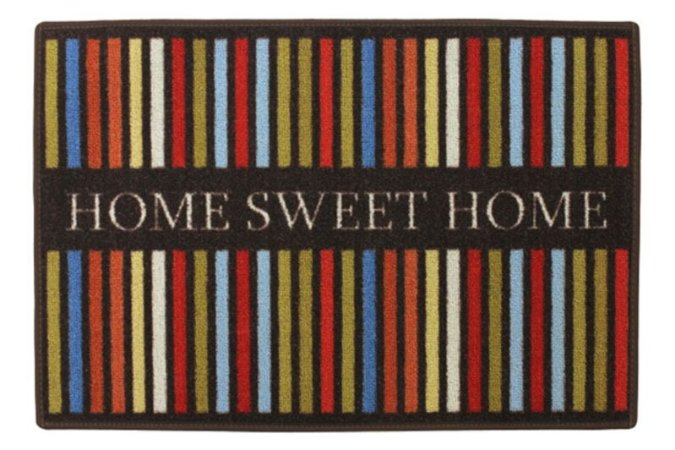 TAPETE CLEANKASA HOME SWEET HOME LISTRAS 40X60CM