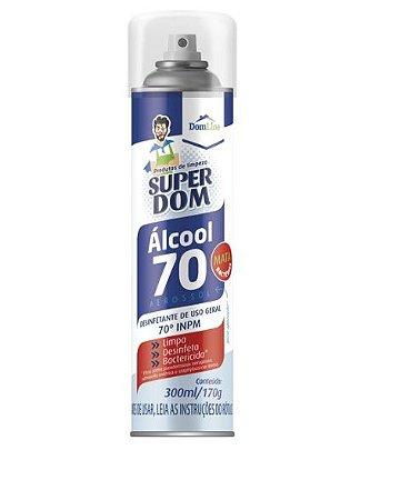 ALCOOL AEROSOL 70 SUPER DOM 300ML