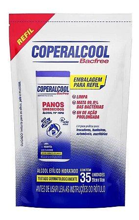 PANOS UMEDECIDOS BACFREE COPERALCOOL 70 REFIL 35UN