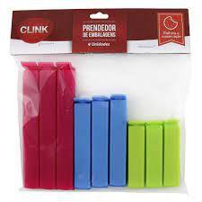 PRENDEDOR DE EMBALAGENS PLAST C/9UN CLINK