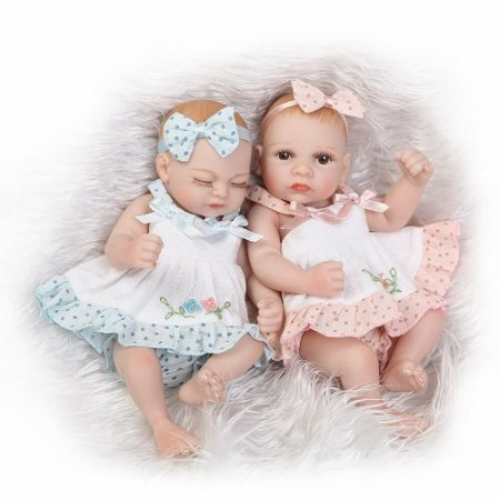 Bebês Reborn Gêmeos Jade e Cristal