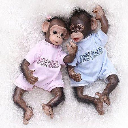 Bebes Reborn Gemeos Macaca Atenas e Macaco Jack