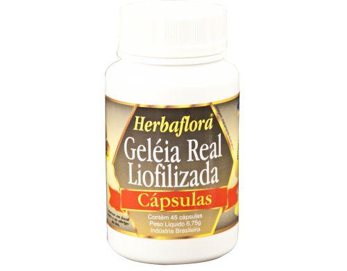Geleia real liofilizada capsulas herbaflora
