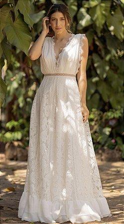 Vestido Fernanda Longo em Organza e Renda
