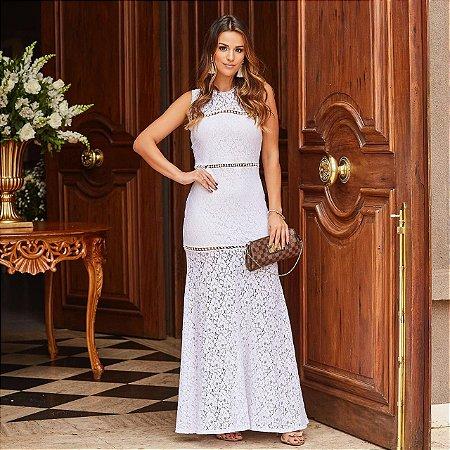 Vestido Branco Longo Alicia