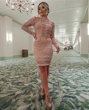 Vestido Rosê Vanessa em Guipir