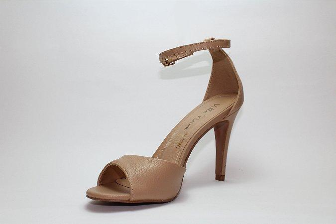 Sandália de Salto Fino Nude