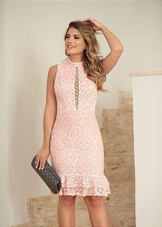 Vestido Mariana Rose com Detalhe nas Costas