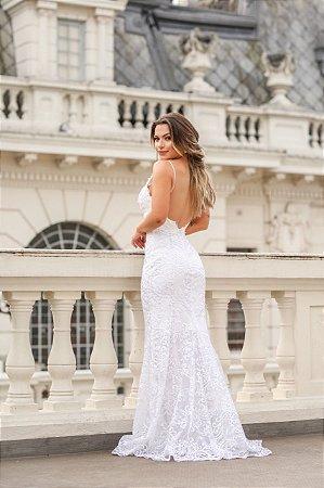 Vestido de Noiva Sereia em Renda