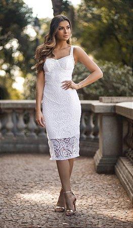 Vestido Karla em Renda Guipir
