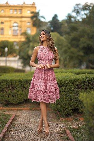 Vestido Lúcia Rose em Renda