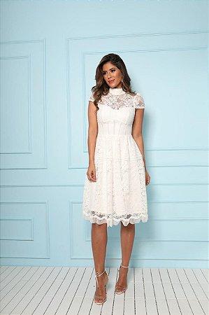 Vestido Brenda Branco em Renda