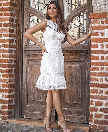 Vestido Maya Off White em Renda
