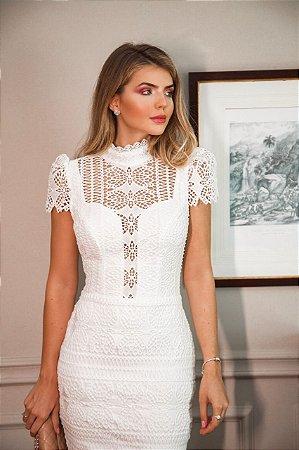 Vestido Gabriela Branco em Guipir