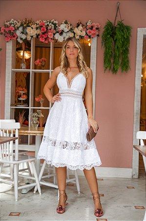 Vestido Vitória Midi em Renda