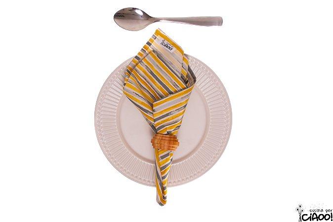 Cinza e Amarelo - Guardanapos - Opção 4
