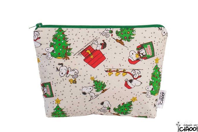Snoopy Natal - Nécessaire Grande