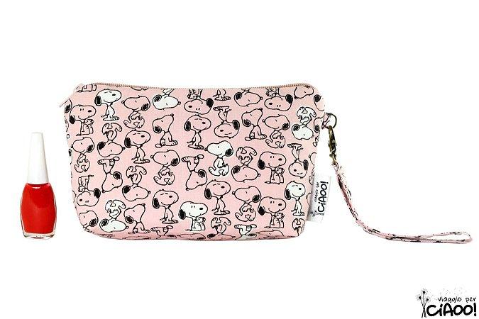 Snoopy Rosa - Clutch - Opção 1