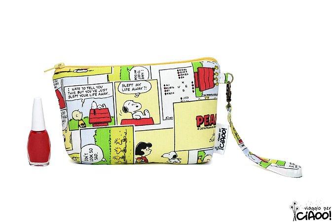 Snoopy Amarelo - Clutch - Opção 2