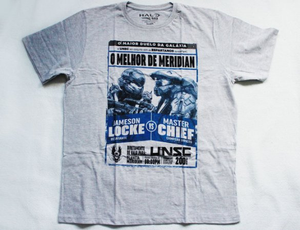 Camiseta Halo - Locke vs Master Chief