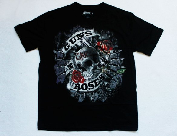 Camiseta Guns n' Roses - Skull and Roses