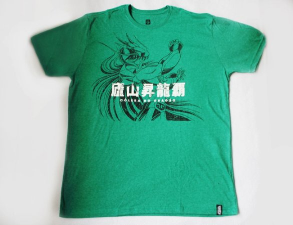 Camiseta Cavaleiros do Zodiaco - Shiryu Cólera do Dragão