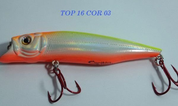 Isca Artificial Capitão Hook Top 16 - 9cm