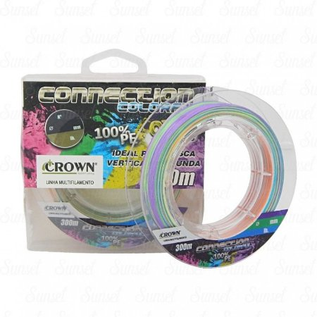 Linha Multifilamento Crow Connection Colorful 9x 300m
