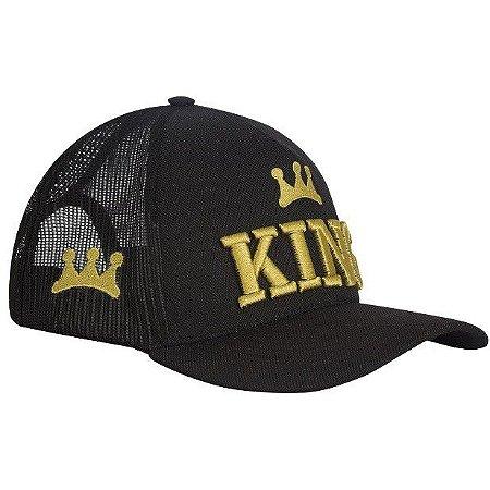 Boné King Brasil - Black Gold New