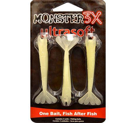 Isca Camarão Monster 3x Ultrasoft 7,5 cm - Cartela 3 unidades