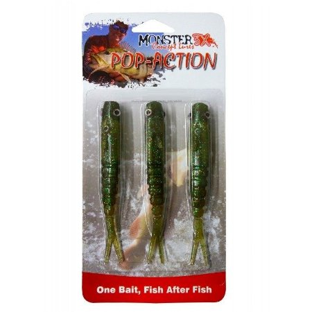 Isca Artificial Monster 3X Pop-action 11cm - Cartela 3 unidades