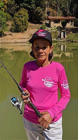 Camisa Pescaria dos Amigos c/ Protetor UV e UVB - Rosa