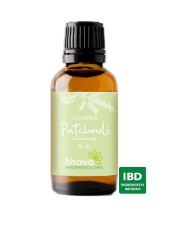 ÓLEO ESSENCIAL DE PATCHOULI CERTIFICADO IBD NATURAL 10ML