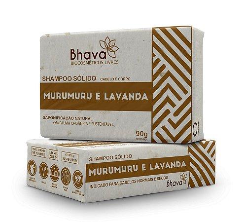 Shampoo Sólido Natural Murumuru e Lavanda 90g - LINHA LIXO ZERO