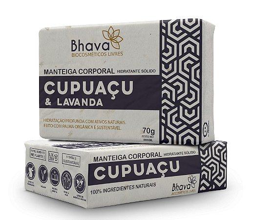 Manteiga Hidratante Corporal Cupuaçu e Lavanda 70g - LINHA LIXO ZERO