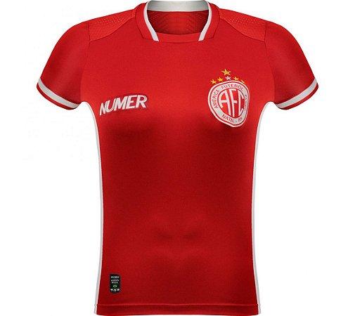 Camisa Oficial América de Natal 2019 Vermelha FEMININA