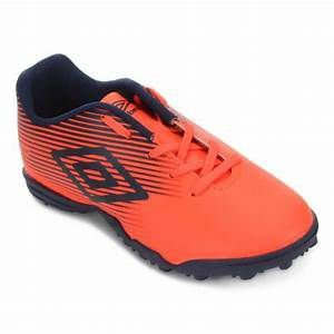 CHUTEIRA SOCIETY UMBRO F5 LIGHT JR MARINHO E CORAL