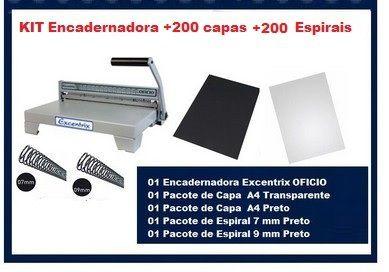 KIT Encadernadora + 200 capas + 200 Espirais