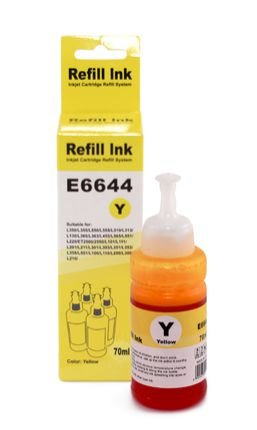 Tinta Yellow Compatível para Epson Bulk Ink T664  70ml