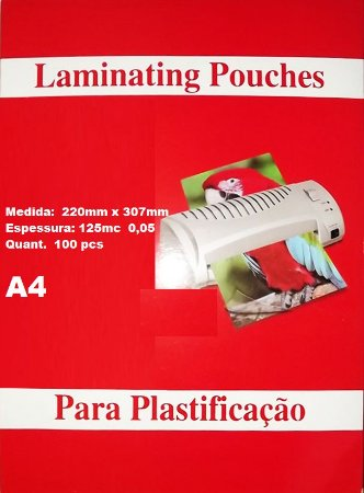 POUCHES 220X307mm 0,05 A4 CX C/100