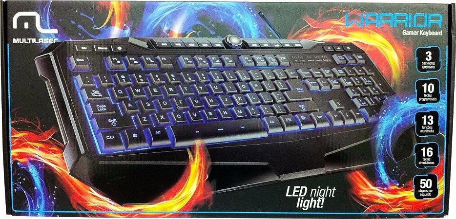 Teclado Gamer Warrior LED  - TC167