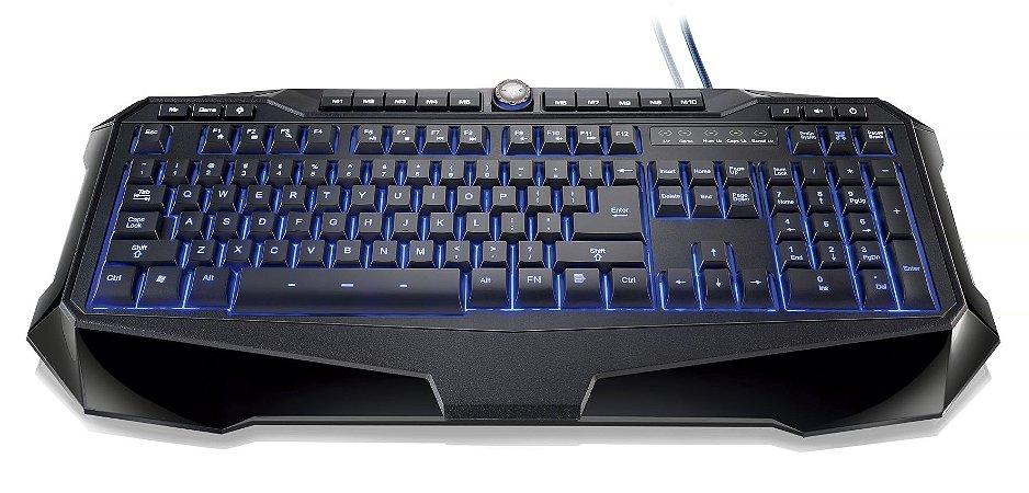 Teclado Profissional Warrior Gamer LED  - TC167