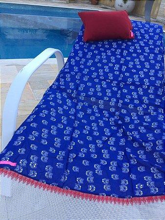 Kit Canga Corujas Bordada + Travesseiro Red