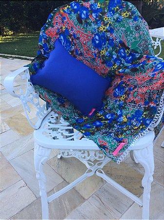 Kit Canga Mixed Flowers com aplicações + Travesseiro Royal