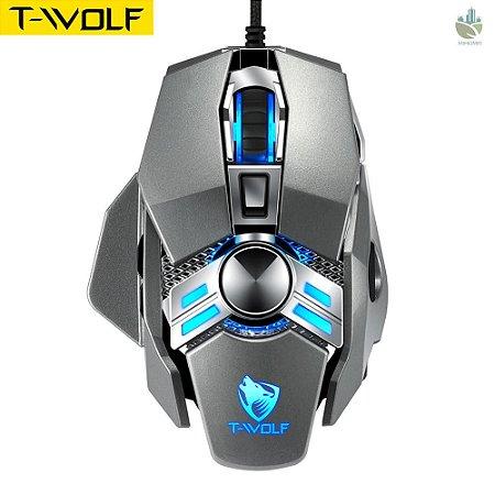 Mouse T-Wolf  V10 Warrior Ergonômico com 7 Botões