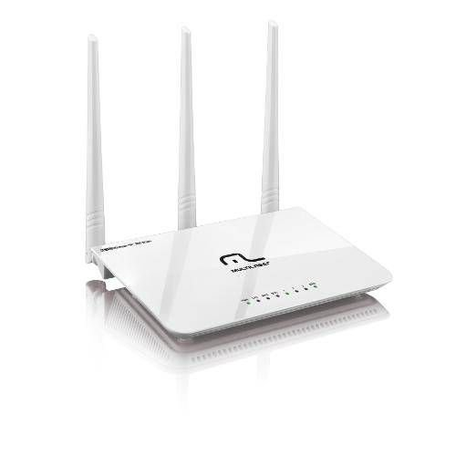 Roteador Multilaser Wireless 300mbps 2.4ghz 3 Antenas 5dbi Re163