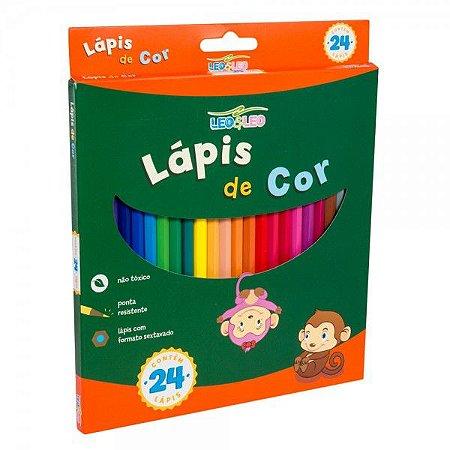 Lápis De Cor 24 Cores - LEO&LEO - Grande