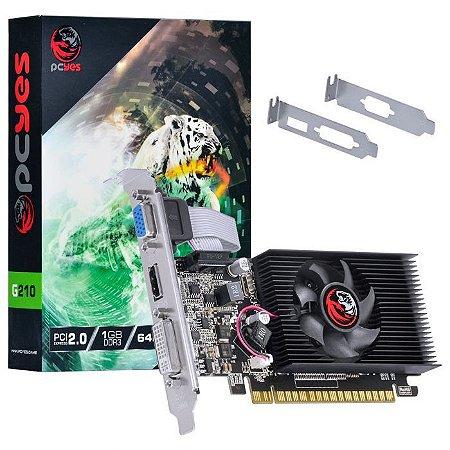 Placa de video PC Yes / GeForce G210 1GB DDR3 64Bits (PA210G6401D3LP) 30675